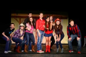 the actors in the Footloose performance
