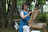 Julia teaches at Art in the Park