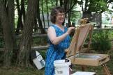Julia teaches at Art in the Park
