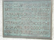 Plaque on the site of Brooding Soldier monument
