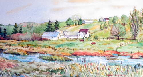 Julia Purcell watercolour of Clyde River