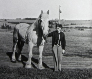 Annie Boyle and her favourite horse