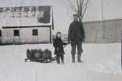 Alex Dixon and his grandfather
