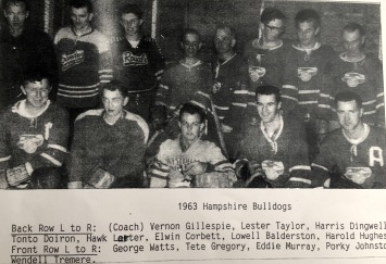 Hampshire Bulldogs 1963