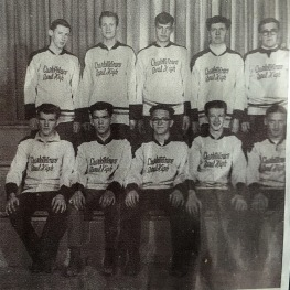 Charlottetown Rural All Star - 1963-64 - BACK ROW: Butch McGee, Barry Craswell, Howard Ellis, Fred Coady, Mike MacDonald; FRONT ROW: Ron MacKinley, Mike McCloskey, Paul Jelley, Dooley Pitcairn, Gordon Ellis