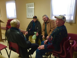 Old friends meet again - Sterling MacRae, Ralph Cruwys, Neil Shaw and Dougie MacEachern