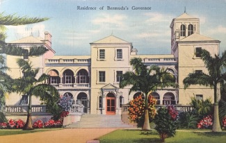 Postcard John sent home from Bermuda, Jan. 18, 1941