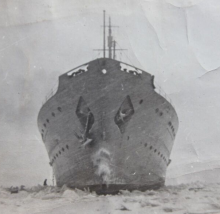 HMCS Prince Henry on the St. Lawrence River at Sorrel