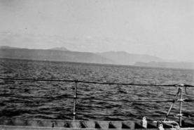 First sight of land since Peru. Arriving in B.C. - 46 days at sea