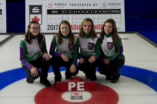 TEAM PRINCE EDWARD ISLAND Cornwall Curling Club Skip: Lauren Lenentine Third: Kristie Rogers Second: Breanne Burgoyne Lead: Rachel O'Connor curling canada/michael burns photo
