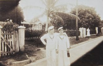 John & fellow seaman in Jamaica