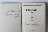 John Beer's First Aid Manual WW2 - (Donated by Beer Family)