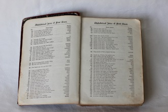 Inside Hymn Book 1890s (Donated by Beer Family)