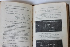 Grammar School book 1890s (Donated by Beer Family)
