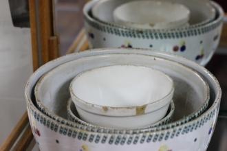 Spongeware bowls