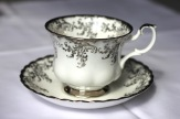 Royal Albert Bone China - Elizabethan shape - silver