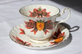 "Royal Albert - Scottish Tartan Series ""Royal Stewart"" - Montrose shape (1960s) Note: Scottish Tartan Series of Six, Black Watch, Cameron, Campbell, MacDonald, Macleod, and Royal Stewart."" Olive's mother was a Stuart from Springvale."