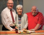 Honourable Wayne Easter with residents Lise Parker and Barry Smith