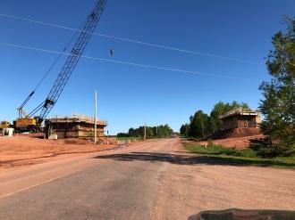 Building Bannockburn Rd. Overpass