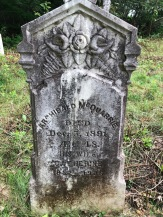 McQuarrie, Archibald, died Dec. 5, 1891, age 48; his wife Catherine 1852-1936